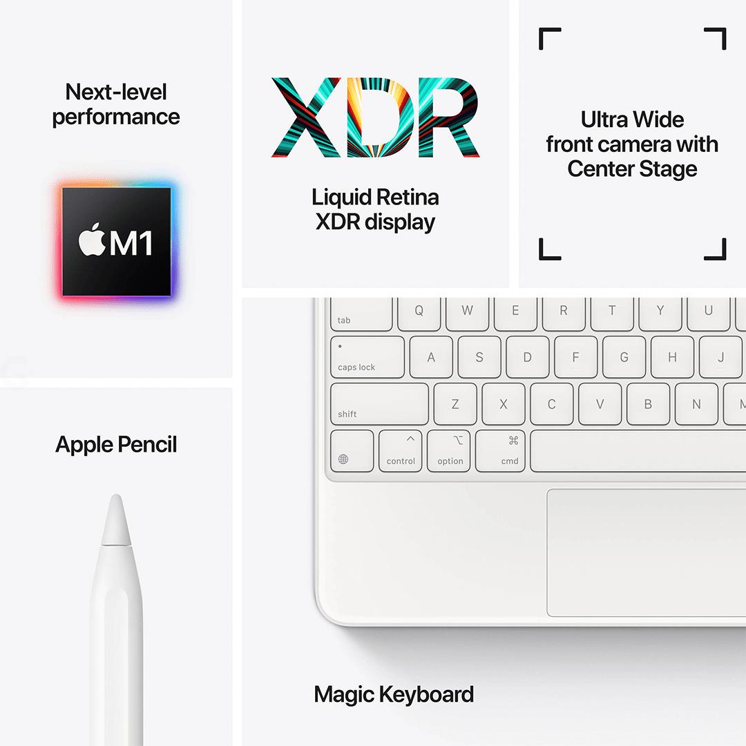 "Apple iPad Pro 12.9"" 128GB M1 Wi-Fi Silver (MHNG3) 2021 ..."