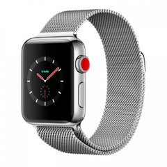 Apple Watch Series 3 42mm GPS+LTE Stainless Steel Case with Milanese Loop (MR1J2), Silver