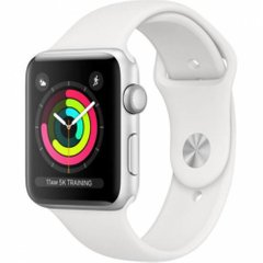 Apple Watch Series 3 42mm GPS Silver Aluminum Case with Fog Sport Band (MTF22)