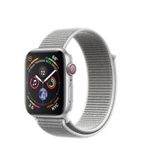 Apple Watch Series 4 GPS + Cellular 44mm Silver Aluminum Case with Seashell Sport Loop (MTUV2)