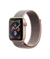 Apple Watch Series 4 GPS + Cellular 44mm Gold Aluminum Case with Pink Sand Sport Loop (MTV12)