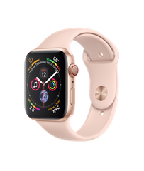 Apple Watch Series 4 GPS + Cellular 44mm Gold Aluminum Case with Pink Sand Sport Band (MTV02)