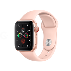 Apple Watch Series 5 GPS + Cellular 40mm Gold Aluminium Case with Pink Sand Sport Band (MWWP2) OPEN BOX