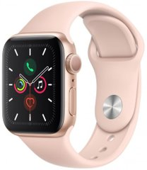 Apple Watch Series 5 GPS 40mm Gold Aluminum Case with Pink Sand Sport Band (MWV72) OPEN BOX