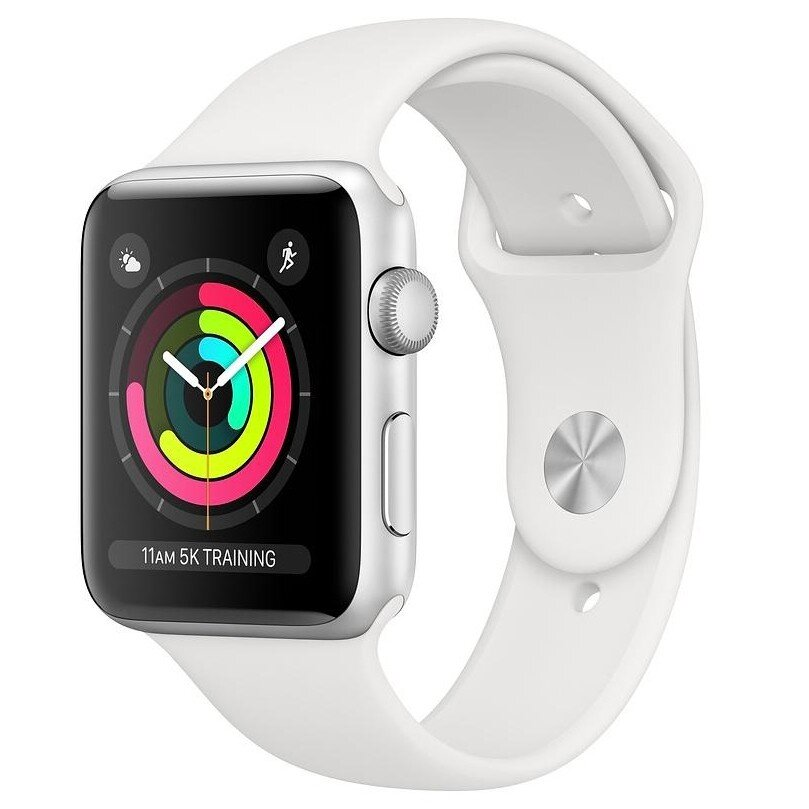 Б/У Apple Watch Series 3 42mm GPS Silver Aluminium Case with Fog Sport Band (MTF22)