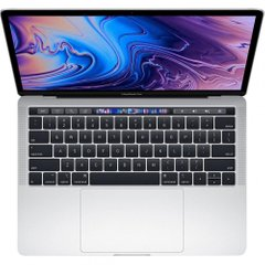 Apple MacBook Pro 13 Retina Silver with Touch Bar and Touch ID (MR9U2) 2018, Silver, 256 ГБ, Новый
