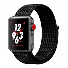 Apple Watch Series 3 Nike+ 38mm GPS+LTE Space Gray Aluminum Case with Black/Pure Platinum Nike Sport Loop (MQL82), Space Gray