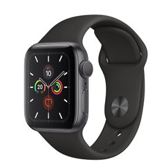 Apple Watch Series 5 GPS 40mm Space Gray Aluminum Case with Black Sport Band (MWV82) OPEN BOX