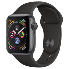 Б/У Apple Watch Series 4 40mm Space Gray Aluminum Case with Black Sport Band (MU662)