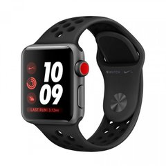 Apple Watch Series 3 Nike+ 38mm GPS+LTE Space Gray Aluminum Case with Anthracite/Black Nike Sport Band (MQL62), Space Gray