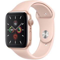 Apple Watch Series 5 GPS 44mm Gold Aluminium Case with Pink Sand Sport Band (MWVE2) OPEN BOX