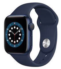 Apple Watch Series 6 40mm Blue Aluminum Case with Deep Navy Sport Band (MG143)