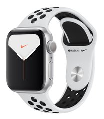 Apple Watch Nike Series 6 44mm Silver Aluminium Case with Pure Platinum Black Nike Sport Band (MG293)