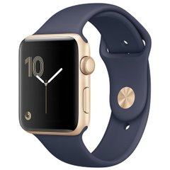 Б/У Apple Watch Series 1 38mm Gold Aluminum Case with Midnight Blue Sport Band (MQ102)