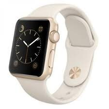 Б/У Apple Watch S1 38mm Gold Aluminum Case with White Sport Band (MLCJ2)